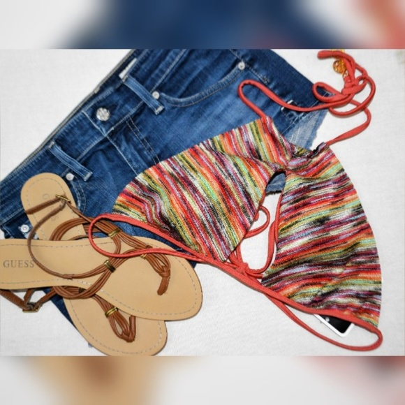 Luli Fama Other - NWT Luli Fama High Neck Keyhole Bikini Top